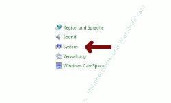 Windows 7 System über einen Systemwiederherstellungspunkt reparieren - Systemsteuerungspunkt System