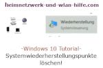 Windows 10 Tutorial - Systemwiederherstellungspunkte löschen