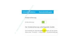 TP-Link Archer VR900v: Die Einrichtung einer Kindersicherung – Die Kindersicherung über den Ein / Aus Schalter aktivieren