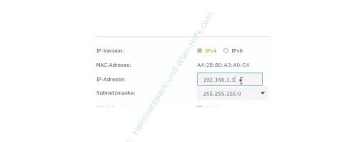 TP-Link Archer VR900v – Die Standard IP-Adresse