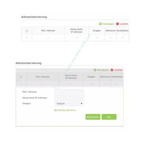 TP-Link Archer VR900v – Feste IP-Adresszuweisung durch den DHCP-Server