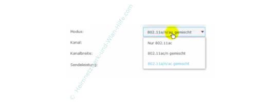 TP-Link Archer VR900v – Den gemischtenWlan-Modus auswählen