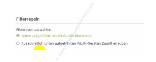 TP-Link Archer VR900v - Mac-Adressfilter konfigurieren – Filterregel festlegen