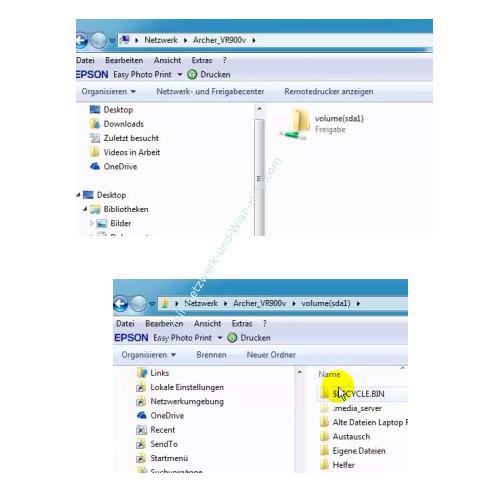 TP-Link Archer VR900v: USB-Anschlussmöglichkeiten nutzen – Zugriff auf eine freigegebenen Partition über den Explorer