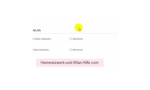 TP-Link Archer VR900v: Ein Wlan-Gastnetzwerk konfigurieren – Das Gastnetzwerk aktivieren