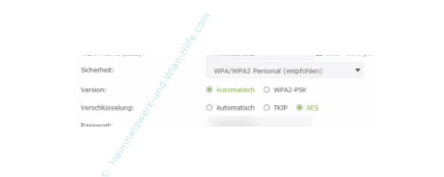 TP-Link Archer VR900v – Wlan-Verschlüsselungsoptionen