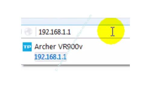 TP-Link Archer VR900v - Der Router, seine Anschlüsse und sein Konfigurationsmenü – Die IP-Adresse des Routers eingeben