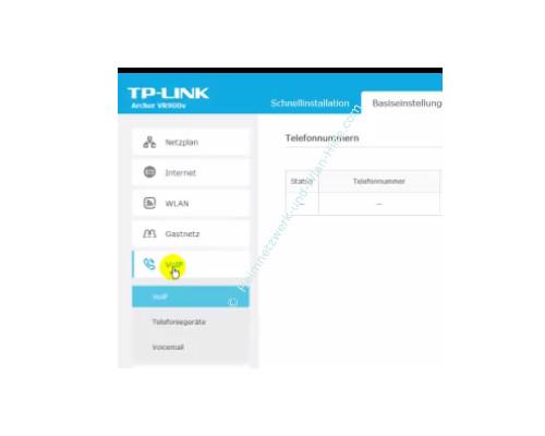 TP-Link Archer VR900v - Der Router, seine Anschlüsse und sein Konfigurationsmenü – Die VoIP – Voice over IP Einstellungen