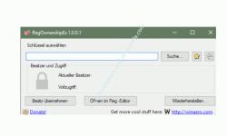 Windows 10 - Gesperrte Registry-Einträge mit Regownershipex ändern – Da Programmfenster von Regownershipex