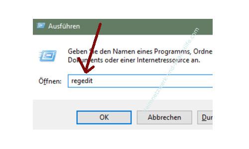 Windows 10 - Gesperrte Registry-Einträge mit Regownershipex ändern – Den Registrierungs-Editor über den Befehl regedit öffnen