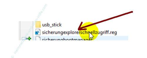 Windows 10 - Gesperrte Registry-Einträge mit Regownershipex ändern – Die gespeicherte Registry-Sicherungsdatei