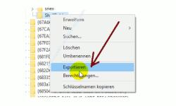 Windows 10 - Gesperrte Registry-Einträge mit Regownershipex ändern – Einen Registry-Schlüssel als Sicherung exportieren