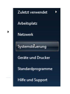 Tutorial Windows 7 Kennwort ändern Button Systemsteuerung