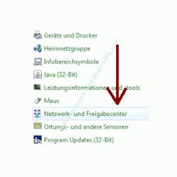 Heimnetzwerk Anleitungen: Die Windows-Heimnetzgruppe im eigenen Computernetzwerk nutzen - Das Windows 7 Netzwerk- und Freigabecenter über die Systemsteuerung öffnen