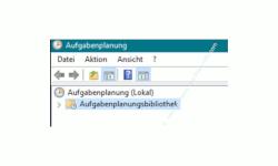 Windows 10 Tutorial - Eine automatische Sicherung der kompletten Registrierungsdatenbank konfigurieren! - Übersichtfenster der Aufgabenplanung, Aufgabenplanungsbibliothek