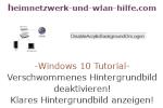 Windows 10 Tutorial - Das verschwommene Hintergrundbild am Anmeldebildschirm von Windows 10 deaktivieren, um wieder das klare Hintergrundbild anzuzeigen!