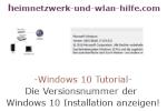 Windows 10 Tutorial - Versionsnummer der Windows 10 Installation anzeigen