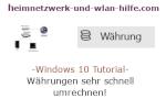 Windows 10 Tutorial - Währungen sehr schnell umrechnen!