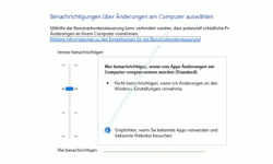 Warnmeldungen der Benutzerkontensteuerung anpassen – Konfigurationsfenster Benutzerkontensteuerung