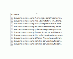 Warnmeldungen der Benutzerkontensteuerung anpassen  - Richtlinien der Benutzerkontensteuerung