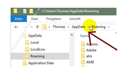 Windows 10 - Eigene Programme im Startmenü einbinden – Der Zielordner der Umgebungsvariable appdata