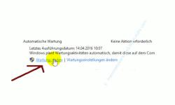 Die Windows 10 Systemfunktion Automatische Wartung anpassen – Manueller Start der Wartung