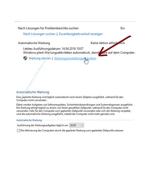 Die Windows 10 Systemfunktion Automatische Wartung anpassen – Wartungseinstellungen ändern aufrufen