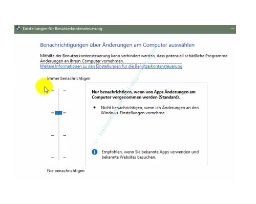 Die neue Benutzerverwaltung – Die Benutzerkonensteuerung Stufe 3