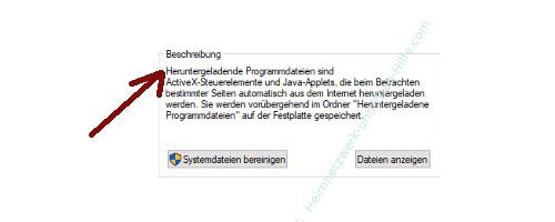 Windows 10 Datenträgerbereinigung – Beschreibung der freizugebenden Speicherorte