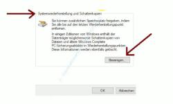 Windows 10 Datenträgerbereinigung – Botton Bereinigen Systemwiederherstellung und Schattenkopien