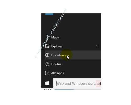 Die Farbeinstellungen des Windows 10 Startmenüs und Desktops anpassen – Das Einstellungen Menü aufrufen