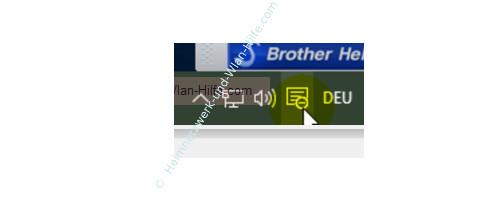 Das Windows 10 Info-Center – Icon mit aktiviertem Symbol für den Ruhezustand