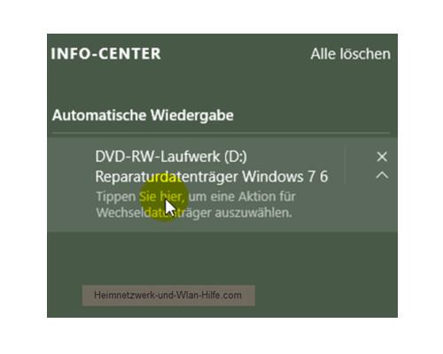Das Windows 10 Info-Center – Optionen für die automatische Wiedergabe
