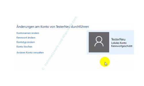 Die neue Benutzerverwaltung – Die Optionen für die Konfiguration eines Benuterkontos