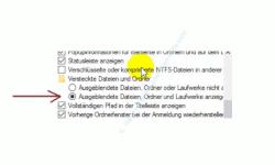 Alle Dateien im Windows Explorer anzeigen lassen – Explorer, Ordneroptionen, Ausgeblendete Dateien, Laufwerke und Ordner anzeigen