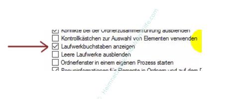 Alle Dateien im Windows Explorer anzeigen lassen – Explorer, Ordneroptionen, Laufwerksbuchstaben anzeigen