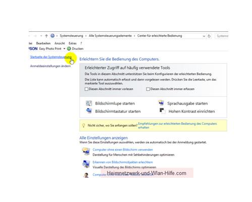 Windows 10 - Die Snap-Funktion zum Andocken von Windows-Fenstern nutzen – Konfigurationsfenster für die Einstellungen der Erleichterten Bedienung