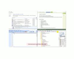 Windows 10 - Die Snap-Funktion zum Andocken von Windows-Fenstern nutzen – Ansicht: Vier angedockte Fenster