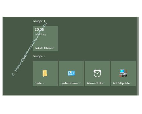 Windows 10 - Die Kachelanzahl im Startmenü von 3 auf 4 erhöhen – Die Ansicht mit vier Kacheln