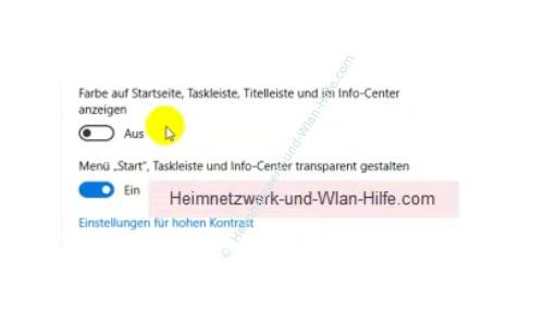 Windows 10 - Die Hintergrundtransparenz aktivieren oder deaktivieren – Der Aktivierungsschalter für die Transparenz des Startmenüs