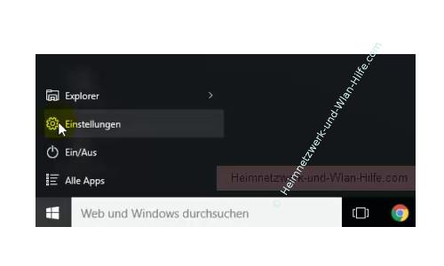 Windows 10 - Die Hintergrundtransparenz aktivieren oder deaktivieren – Startmenü, Menü Einstellungen
