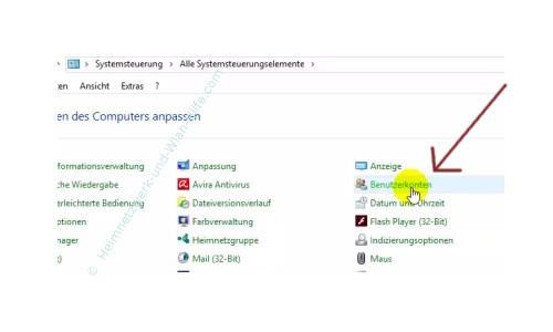 Die neue Benutzerverwaltung – Systemsteuerungsmenüpunkt Benutzerkonten