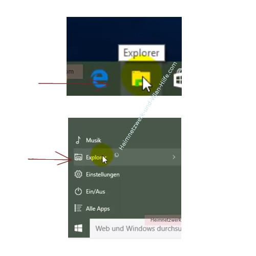 Eine Heimnetzgruppe erstellen – Den Windows Explorer öffnen