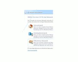Windows Tutorials und Anleitungen: Windows 7 Berechtigungen konfigurieren - Netzwerktyp auswählen