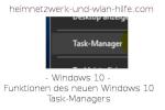 Übersicht über die Funktionen des neuen Windows 10 Task-Managers