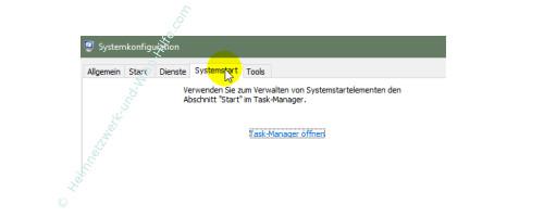Übersicht über die Funktionen des neuen Windows 10 Task-Managers – Das Fenster Systemkonfiguration Register Systemstart