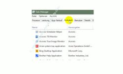 Übersicht über die Funktionen des neuen Windows 10 Task-Managers – Register Autostart