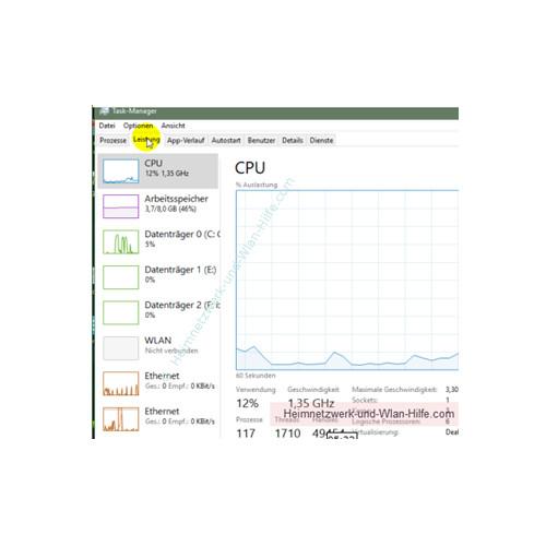 Übersicht über die Funktionen des neuen Windows 10 Task-Managers – Register Leistung
