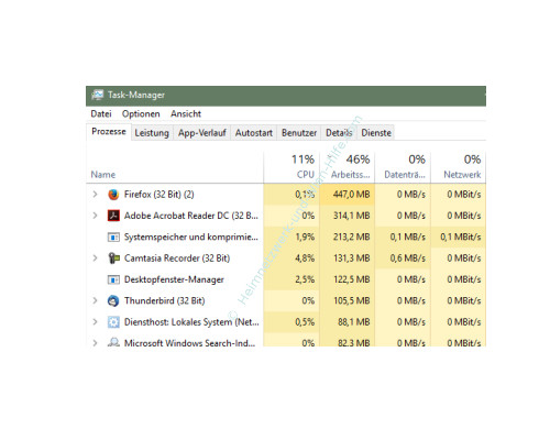 Übersicht über die Funktionen des neuen Windows 10 Task-Managers – Register Prozesse