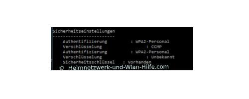 Windows 10 Tutorial - Wlan-Einstellungen und Wlan-Passwort anzeigen lassen – Abschnitt Sicherheitseinstellungen des Wlan-Profiles